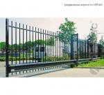 ворота раздвижные из вертикальных прутьев / sliding gates with vertical bars