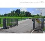 ворота распашные одностворчатые / single-leaf swing gates