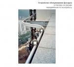 Стационарная подвесная люлька на монорельсе / Стаціонарна підвісна платформа на монорельсу