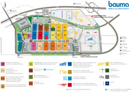 plan exibitions bauma 2019